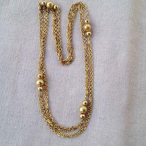 Vintage Gold Chain Flapper Necklace